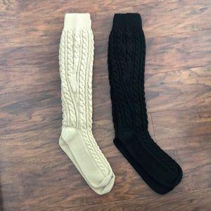 Tan and Black Boot Socks